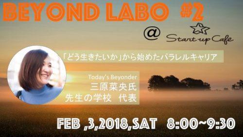 【終了しました】BeYond Labo #2<br>『どう生きたいか』から始めた<br>パラレルキャリア